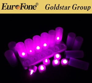 Purple Rechargeable LED Light Candle pictures & photos