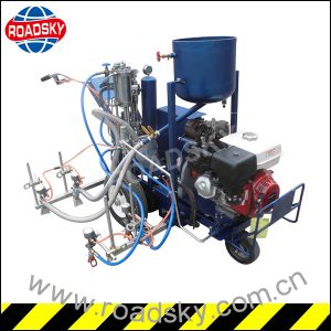 Traffic Line Cold Paint Ailress Spraying Road Marking Machine for Sale pictures & photos
