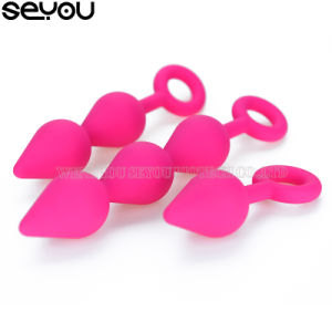 Butt Massager Anal Plug Silicone Male Anal Sex Toys Anal Beads Big Beads Vibrating Butt Plug Set pictures & photos