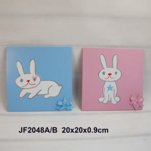 Wooden Rabbit Wall Decorative Plaque in MDF pictures & photos