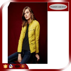 2016 Ladies Trendy Yellow Insulation Technical Fill Down Jacket pictures & photos