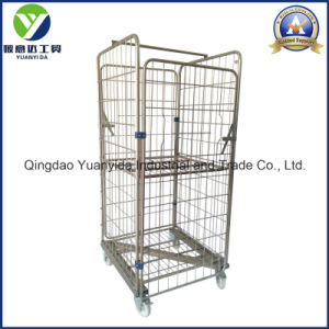 Z-Frame Zinc Plating Laundry Roll Container Storage Packing Trolley pictures & photos