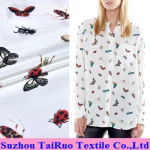 16mm Reactive Printed Crepe De Chine Silk for Lady Shirt pictures & photos