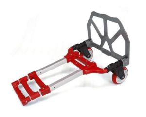 Foldable Aluminum Hand Trolley with Red Color pictures & photos