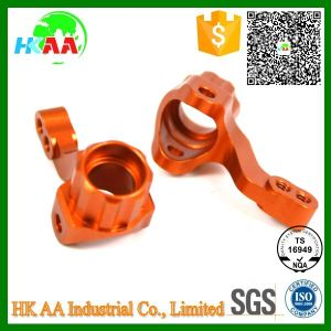 Custom CNC Machined Red Anodized Aluminum Steering Arm Knuckle pictures & photos