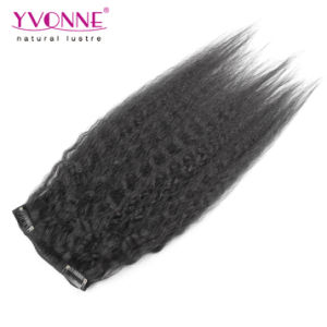 2016 New Kinky Straight Clip in Human Hair Extension pictures & photos