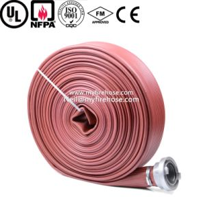8 Inch PVC Canvas Fire Hydrant Hose for Fire Fighting pictures & photos