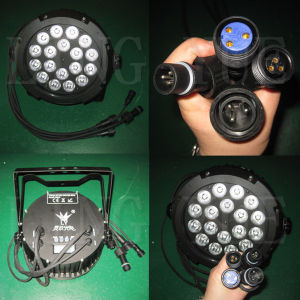 Outdoor Flat Rgbwauv 18X18W Stage LED PAR Light pictures & photos