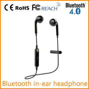 New Bluetooth in-Ear Earphone with Clip in Black Color