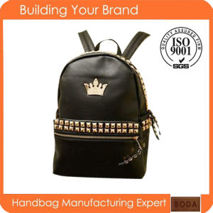 Wholesale Fashion Unisex PU Daily Backpack pictures & photos