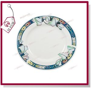 8′′ Ceramic Plate with Rim and Design of Lotus pictures & photos