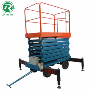 6m Movable Electric Hydraulic Scissor Aerial Work Platform (SJY0.3-6)