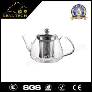 High Quality Glass Teapot with Stainless Steel Strainer