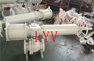 Pneumatic Reducing Bore Flanged Ball Valve