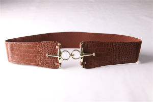 Woman′s PU Elastic Belt with Fashion Accessories Jbe1639