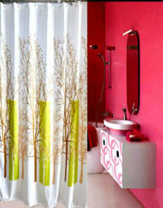 Printing 100% Polyester Shower Curtain pictures & photos