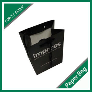 Black Paper Shopping Bag for Wholesale pictures & photos
