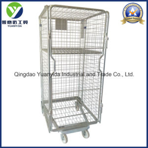 4-Sides Zinc Plated Nestable Laundary Hand Cart/Roll Pallet/Roll Cages pictures & photos