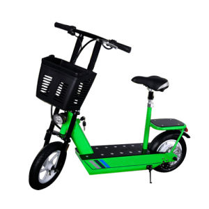 2 Wheel Electric Bicycle with Foladed Handle and Rear Seat pictures & photos