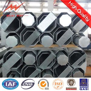 Double Circuit Galvanized Steel Electrical Pole pictures & photos