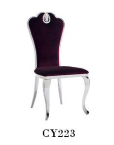 Modern Elegant Furniture Stainless Steel King Throne Dining Chairs pictures & photos