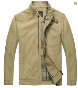 Spring/Autumn Top-Quality Men′s Middle-Aged Fashion Zipper Cotton Stand-up Collar Jacket pictures & photos