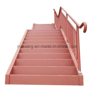 Australian ASTM Steel Straight Staircase with Primer for Factory and Warehouse pictures & photos