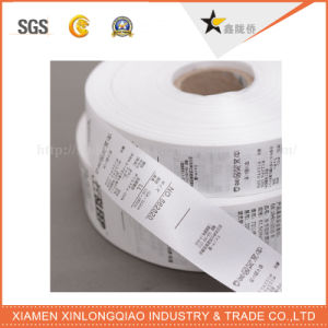Washable Printed Garment Printing Woven Sticker Cloth Careful Wash Label pictures & photos