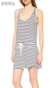China Factory Casual Stripe Cotton Dress pictures & photos