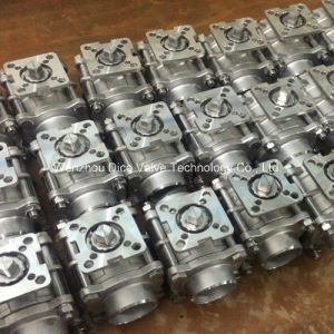 3-PC Butt Weld Ball Valve with Mounting Pad (ISO5211) pictures & photos