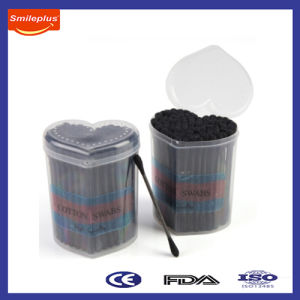 120 PCS Black Stick and Cotton in Small Heart PP Box pictures & photos