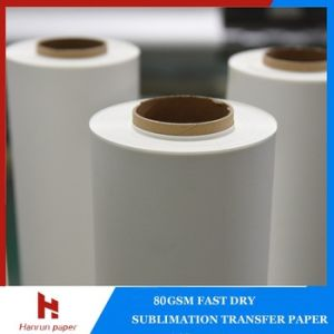 Low Weight 45, 55, 60, 70GSM Sublimation Transfer Paper Roll for Textile