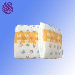 Cheap Soft Cotton with High Absorbency Disposable Baby Diaper Manufacturer pictures & photos