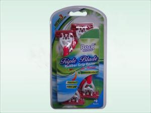 Triple Blade Disposable Razor (KD-B3028L) pictures & photos
