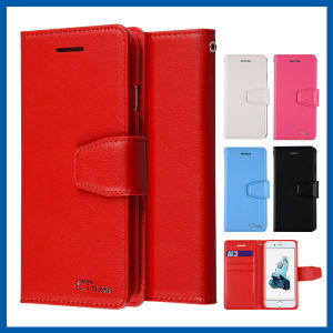 Leather Wallet Flip Case Card Slots Stand for iPhone 6s pictures & photos