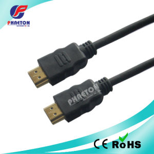 Black HDMI Cable with Ethernet 1.4V Golded Plated 1.5m pictures & photos