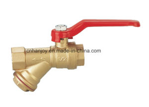 Brass Ball Valve with Filter (NV-5013) pictures & photos