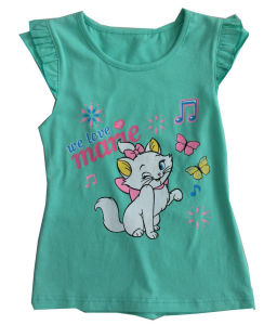 Fashion Flower Girl Baby Clothes in Children Kids T-Shirt with Printingsgt-079 pictures & photos