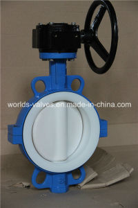 PTFE Full Coated Two PCS Body Industrial Butterfly Valve with Ce & ISO Approved (D71X-10/16) pictures & photos
