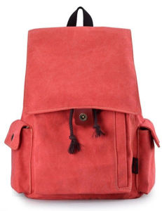 Shoulders School Wind Canvas Leisure Ball Sack Backpack Sh-15113046 pictures & photos