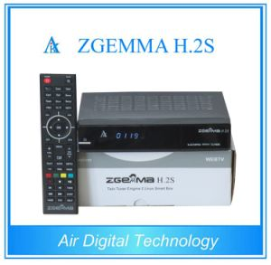Original Enigma2 Linux Zgemma H. 2s Twin DVB-S2 FTA Receiver pictures & photos