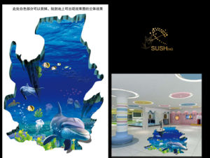 Sea Dolphin 3D Floor Sticker pictures & photos