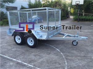 8X5 Tandem Axles Fully Welded Galvanised Heavy Duty Box Trailer