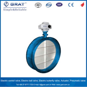 Electric Stainless Steel Ventilation Butterfly Valve pictures & photos