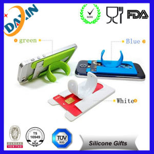 Silicone Mobile Phone Card Holder pictures & photos