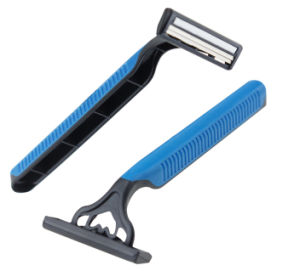 Jiali Shaver Twin Blade Razor with Rubber Handle Swivel Head pictures & photos