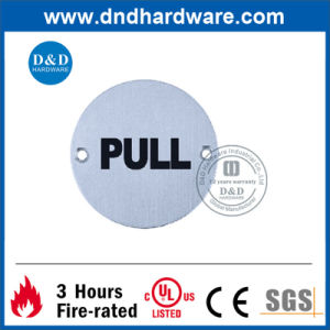 Pull Indication Round Type Sign Plate pictures & photos