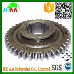Precision CNC Machined OEM Transmission Output Shaft Final Gear with Ts16949 Certification pictures & photos