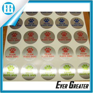 Custom Design Small Round Bright Hologram Colorful Sticker pictures & photos