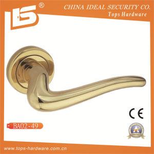 Brass Rosette Lock Door Handle-Ba0249 pictures & photos